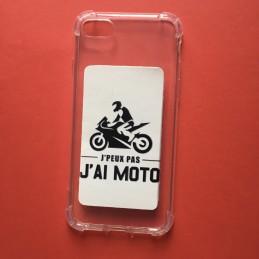 """Coque téléphone Portable """"Je peux pas, j'ai Moto"""""""